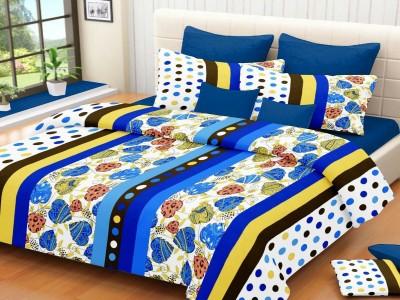 Modish Cotton Silk Blend Printed Double Bedsheet