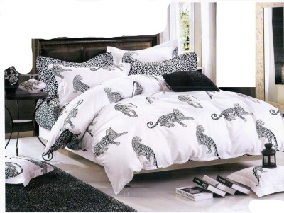 Mk Retail Cotton Printed Double Bedsheet