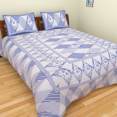 ROOPGOVIND Cotton Floral King sized Double Bedsheet