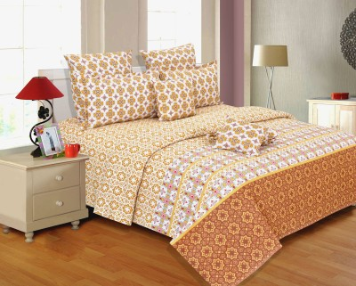 Salona Bichona Cotton Geometric Double Bedsheet