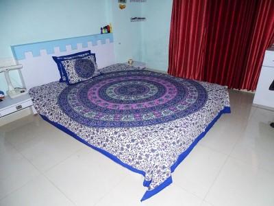 RK Raag Rang Cotton Animal Queen sized Double Bedsheet