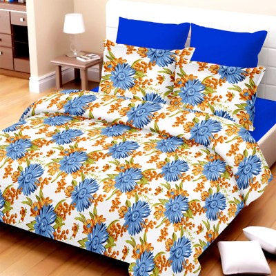 Always Plus Cotton Floral King sized Double Bedsheet