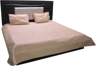 Satcap Polyester Embroidered Double Bedsheet