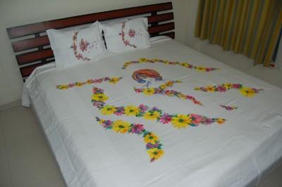 Bizibee Cotton Striped King sized Double Bedsheet