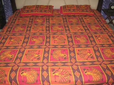 Kandkdecor Cotton Printed Double Bedsheet