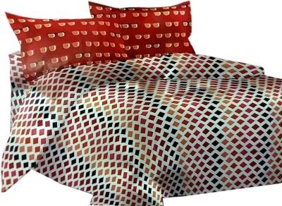 Shreem 2015 Polycotton Text Print Double Bedsheet