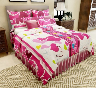 Amethyst Cotton Printed Double Bedsheet