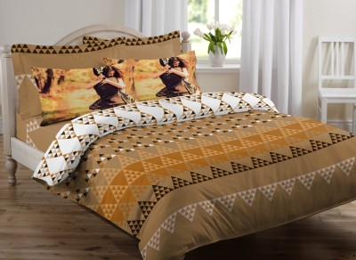 Royal Home Cotton Abstract King sized Double Bedsheet
