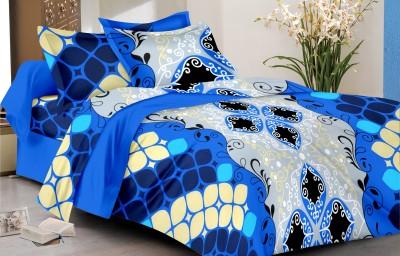 Mee pra Cotton Geometric Double Bedsheet