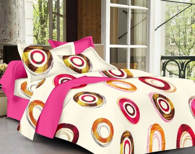 Vaani Cotton Abstract Queen sized Double Bedsheet