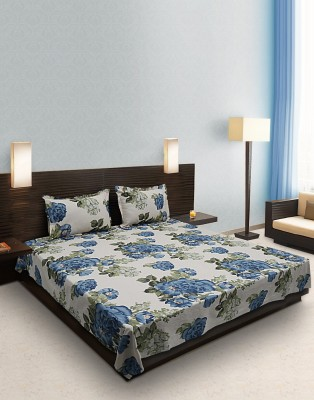 Home Stylerz Satin, Cotton Floral Double Bedsheet