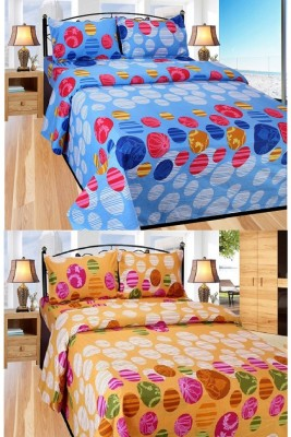 Deco Home Cotton Printed Double Bedsheet