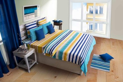 House This Cotton Striped Single Bedsheet