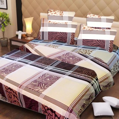 H2 Polycotton Checkered Double Bedsheet
