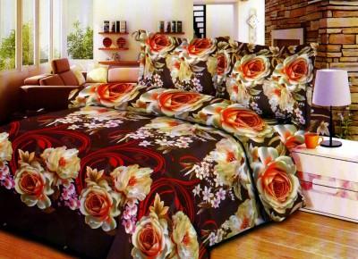 SAMSON Polycotton Floral Double Bedsheet