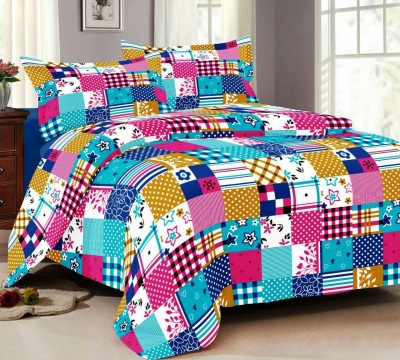 NH Cotton Goldstar Cotton Geometric Double Bedsheet