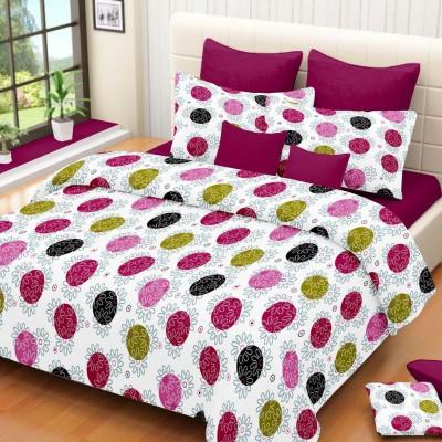 NIVRATI Cotton Floral Double Bedsheet