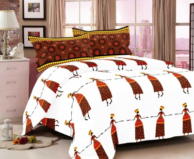 INSPIRE Cotton Printed Double Bedsheet