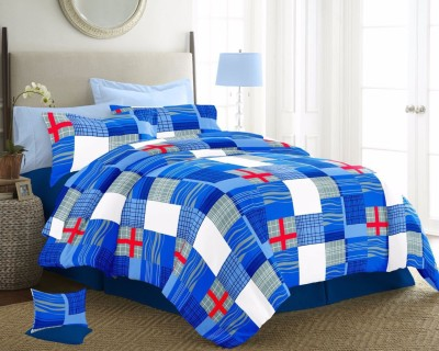 CocoBee Cotton Checkered Double Bedsheet