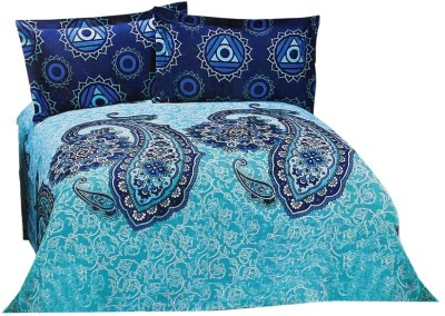 Jesia Cotton Floral Queen sized Double Bedsheet