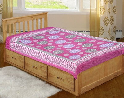 SHOP JAIPURI Cotton Geometric Single Bedsheet