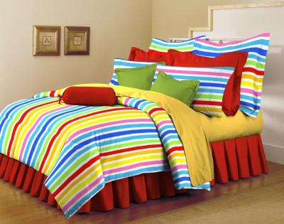 Arto Cotton Striped King sized Double Bedsheet