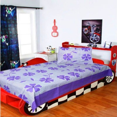 Sai Arpan Cotton Floral Single Bedsheet
