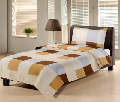 HEMLINES Polyester Printed Single Bedsheet