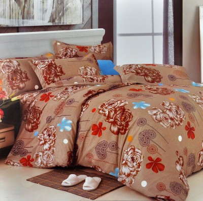 Silver Thread Polyester Printed Double Bedsheet