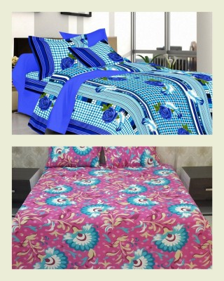 Welhouse Cotton Floral Double Bedsheet