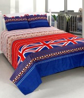 Wonder Home Collection Polyester Printed Double Bedsheet(1 Double Bed sheet with 2 Pillow Covers, Multicolor) best price on Flipkart @ Rs. 439