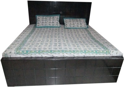 AsiaCraft Cotton Floral Queen sized Double Bedsheet