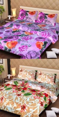 Esscofabs Cotton Floral Double Bedsheet