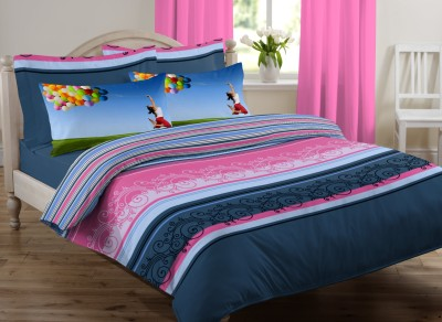 Royal Home Cotton Striped King sized Double Bedsheet