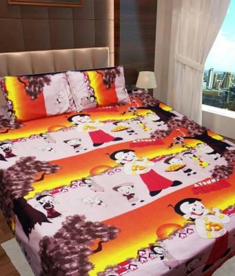 Ridhaan Polycotton Cartoon Double Bedsheet