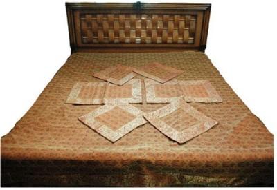 Baba Handicraft Silk Abstract Double Bedsheet