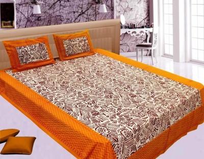 Jaipur Printex Cotton Geometric Double Bedsheet