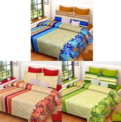 Brand Decor Cotton Striped Double Bedsheet