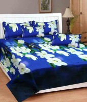 MEHAR HOME Cotton 3D Printed Double Bedsheet(1 DOUBLE BED SHEET WITH TWO PILLOW COVER, Multicolor) best price on Flipkart @ Rs. 477