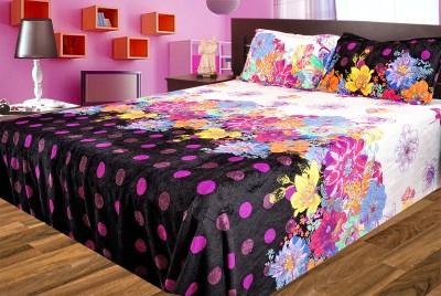 Gopani Dispatchers Polyester Silk Blend Floral Double Bedsheet