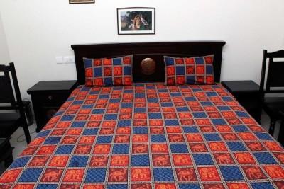 Halowishes Cotton Animal Double Bedsheet