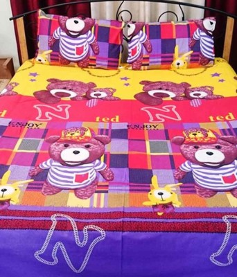 Galaxy Decorations Cotton Cartoon Double Bedsheet