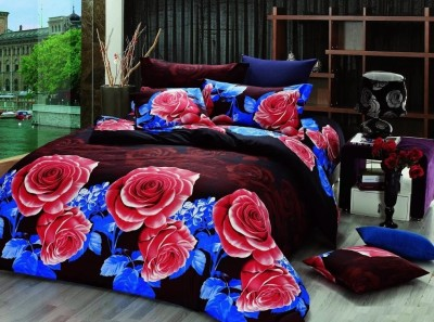 Silver Thread Polycotton Floral Double Bedsheet