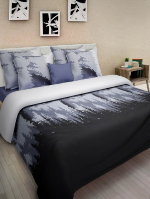 Swastika Satin Printed Double Bedsheet