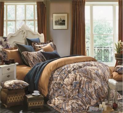 Kiaana Usa Cotton Paisley Double Bedsheet