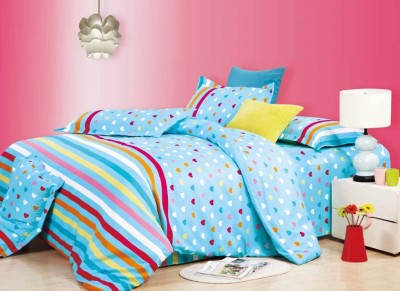 Carah Polyester Printed Double Bedsheet