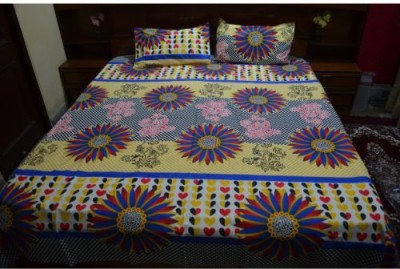 Balaji Handloom Cotton Floral Double Bedsheet