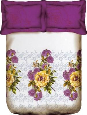Bichauna By Portico Cotton Linen Blend Floral King sized Double Bedsheet
