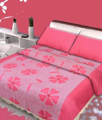 Spring Cotton Floral Double Bedsheet