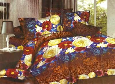 Madhavs Polycotton Plain King sized Double Bedsheet